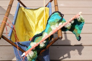 Knitting Tote Outside