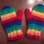 rainbow mittens