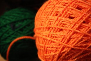 Orange and Green Shepard's Wool