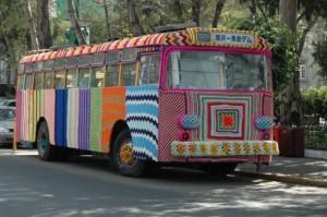 yarn bomb bus