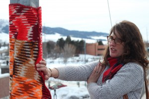 Yarn Bombing Higgins Mama Loves Knitting Niki